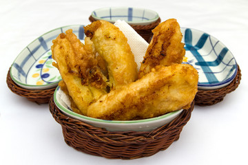 Fried banana fritter indonesian style in white background 2