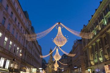 ウィーン クリスマスの街並 イメージ(世界遺産 ウィーン旧市街)