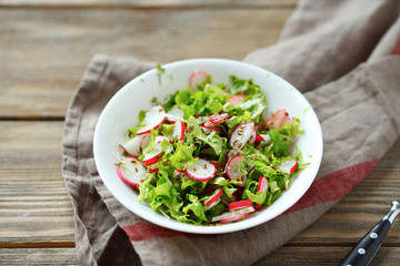 light summer salad in a bowl