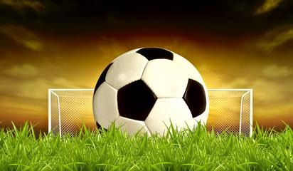 Soccer Sunset background