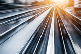 City Metro Rail,motion blur - 70331344