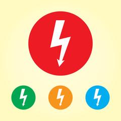 Vector power icon , Lightning bolt vector icon