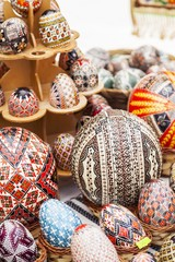 Handmade painted easter eggs from Romania