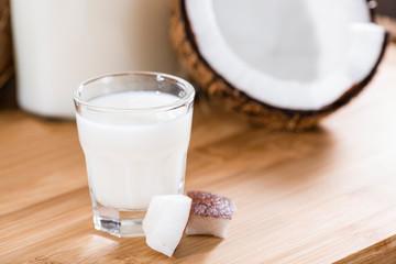 Shot Glass with Coconut Liqueur