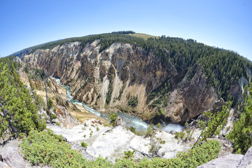 Yellowstone Canyon valley view