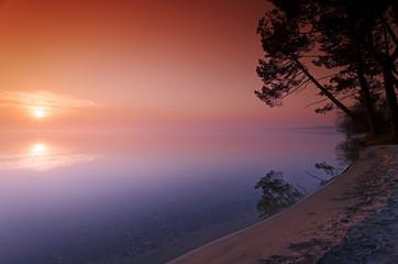 plage,  lac des Landes