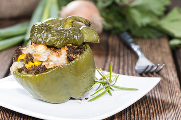 Portion of Stuffed Peppers