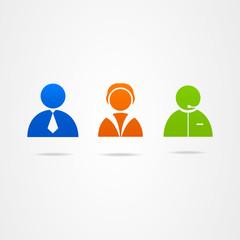 Business Icon vector button businessman