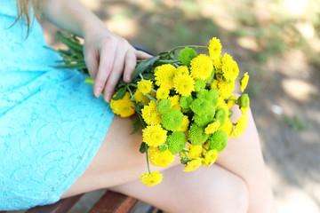 Beautiful bouquet of chrysanthemums flowers