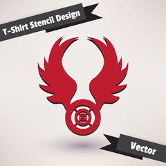 T-Shirt Stencil Design vector illustration. Template for your