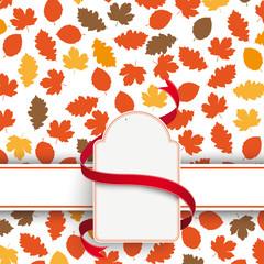 Autumn Foliage Etikette Banner