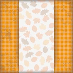 Vintage Autumn Checked Cloth Foliage