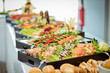 Leinwandbild Motiv catering hochzeit