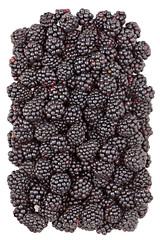 Sweet ripe blackberries isolated on white background.