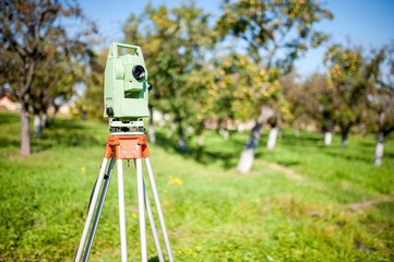 Total station surveying and measuring engineering equipment