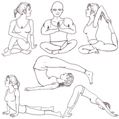 fitness yoga positions