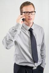 man talking on mobile