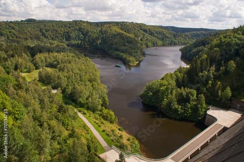 Fotobehang Dam Rappbode-Talsperre im Harz