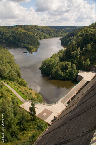 Staande foto Dam Rappbode-Talsperre im Harz