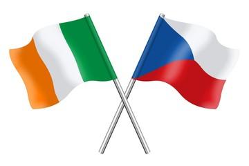 Flags: Ireland and Czech Republic