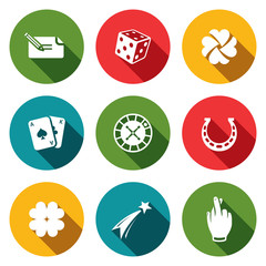 Gambling and fortune icon collection
