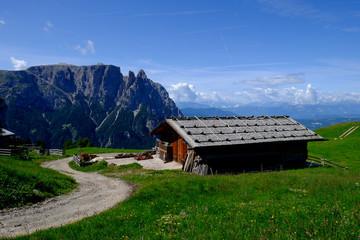 Baita di montagna sulle Dolomiti