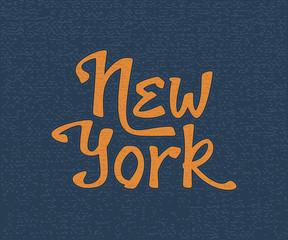 New York hand lettering