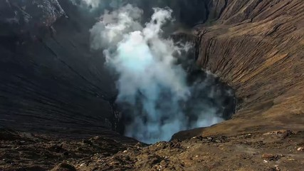 Time lapse of Bromo Volcano Crater