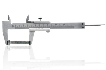 Caliper on white background