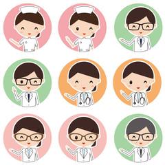 医者 看護婦 薬剤師 アイコン