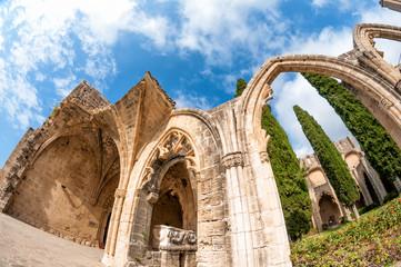 Archs at Bellapais Abbey. Kyrenia. Cyprus