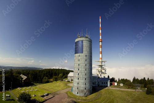 Leinwandbild Motiv Blick auf den Inselsberg im Thüringer Wald