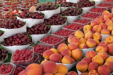 Summer fruit on the market