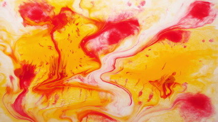 Colorful flowing abstract painting.