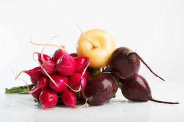 radishes turnips and beets