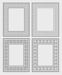 Four of ornate vector frames