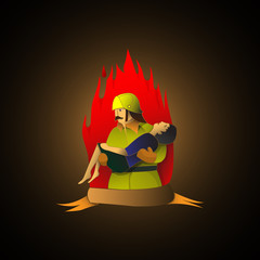 Brave fireman