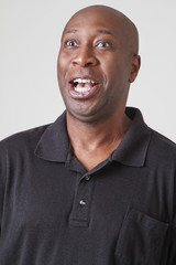 Man with surprise expression