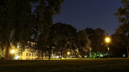 Herrngarten Darmstadt bei Nacht