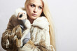young beautiful woman in fur. winter style.pretty girl