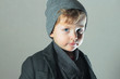 Winter Style Little Boy.Stylish Handsome Child. Fashion Kids