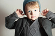 Little Boy.Stylish Handsome Child. Fashion Kids.Winter Style