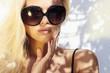 beautiful woman in sunglasses.beauty blond girl. Summer