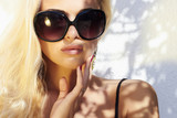 beautiful woman in sunglasses.beauty blond girl. Summer