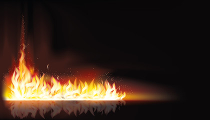 Fire background, vector illustration