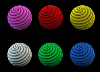 rope yarn ball pack 3d