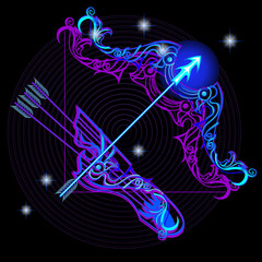 Neon signs of the Zodiac: Sagittarius