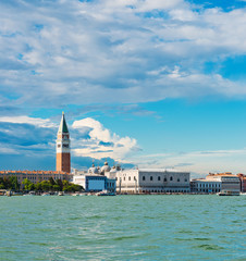 Grand canal view with San Marco Basilica. Venice,
