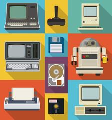 Vintage computer set
