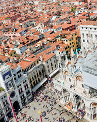 view of St Mark's Square in Venice, Italy